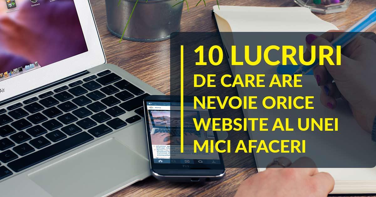 10 Lucruri de care are nevoie orice Website al unei Mici Afaceri