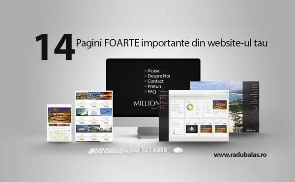 14 Cele mai importante pagini pe care sa le incluzi in website-ul tau - Cele mai importante pagini din website